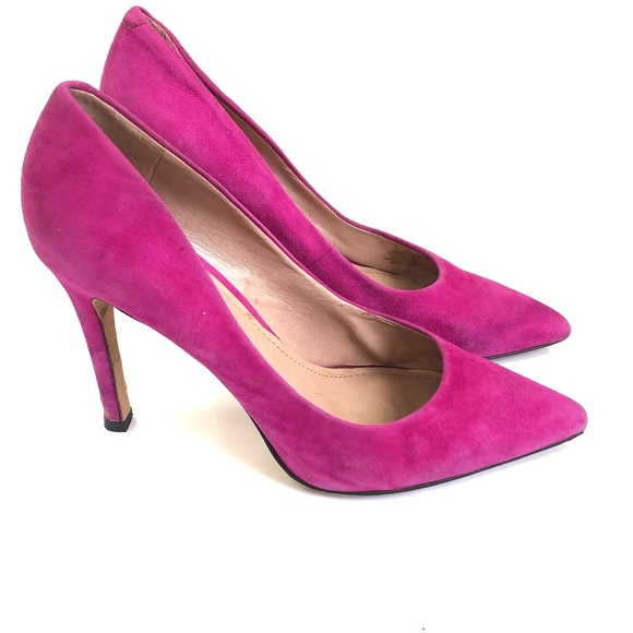 1e0b308ee56 Vince Camuto Pink Suede Pointed Toe Heels